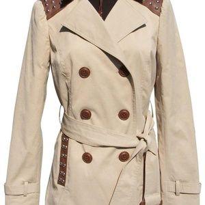 Cache Trench Coat + Belt Jacket New XS/S/M/L